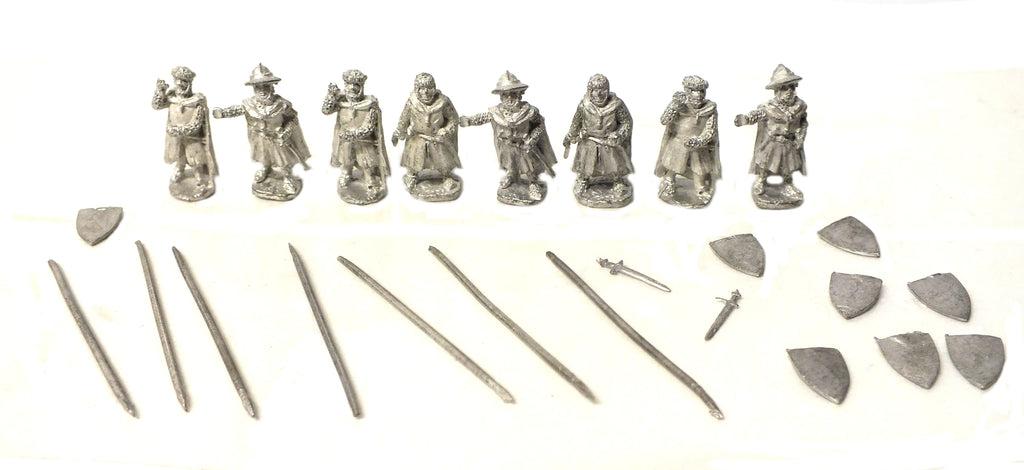 Mirliton - Dismounted knight with cloack (crusader) - 15mm