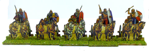 Paper Soldiers - Britons Chariots (28mm) x5