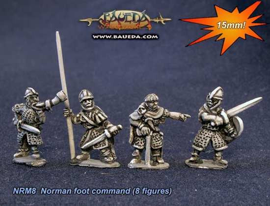 Baueda - Norman foot command (8 pz.) - 15mm
