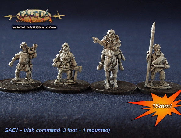 Baueda - Norse Irish command (8) - 15mm