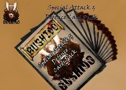 Bushido - Special Attack & Defence cards pack - GCTBAND003