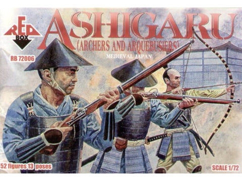 Red Box - Ashigaru (archers and arquebusiers) - 1:72