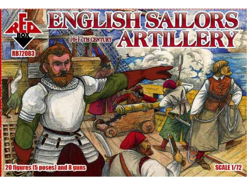 Red Box 72083 - English sailors artillery - 1:72