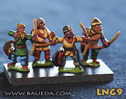 Baueda - Lombard Shielded archers (8 foot) - 15mm - LNG9