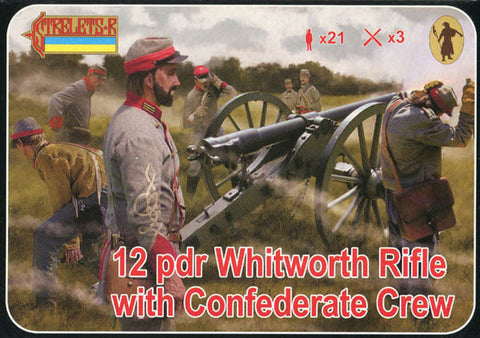 Strelets - 12 pdr Whitworth rifle with confederate crew - 1:72