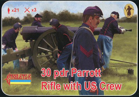 Strelets - 30 pdr Parrott Rifle with US crew - 1:72 - 182