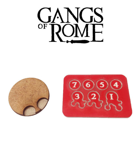 Gangs of Rome WBGORC - Jigsaw base & 7 flesh markers