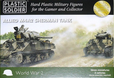 Plastic Soldier - Allied M4A2 Sherman tank - 15mm