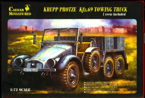 Caesar miniatures - Krupp protze Kfz.69 towing truck (1 crew included) - 1:72