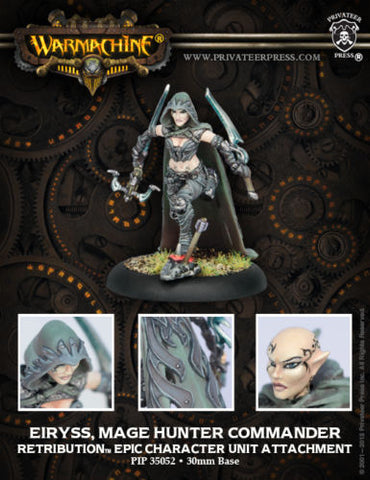 Warmachine - Eiryss, mage hunter commander epic character unit attachment - 28mm