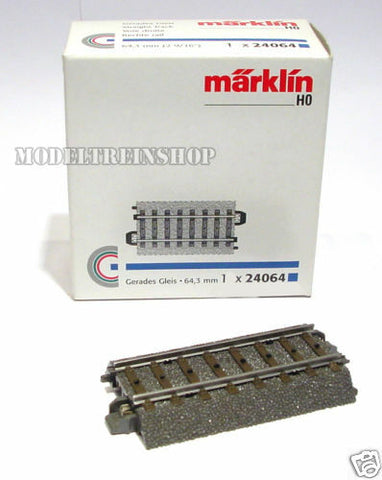 "Marklin 24064 - Straight Track 64.3 mm / 2-9/16"" - H0"