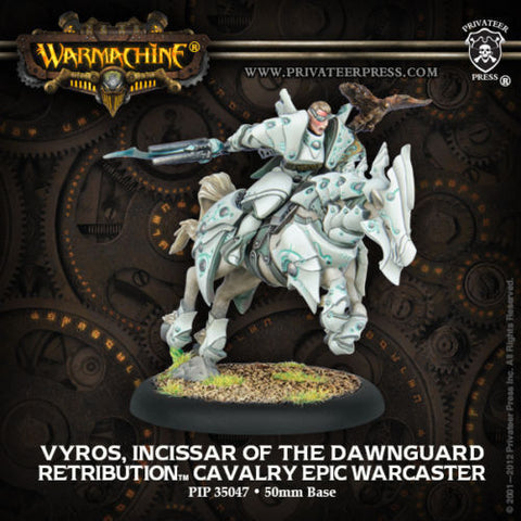 Warmachine - Vyros, incissar of the Dawnguard cavalry epic warcaster - 28mm