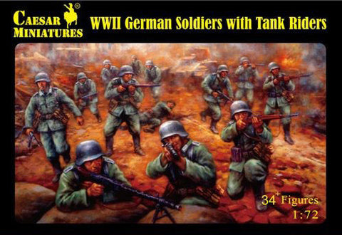 Caesar miniatures - WWII German soldiers with tank riders - 1:72