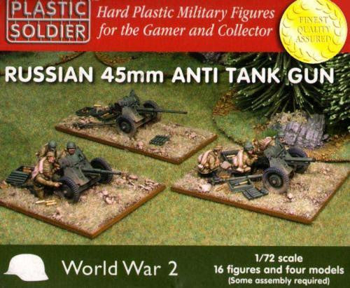 Plastic Soldier - Russian 45mm Anti tank gun - 1:72