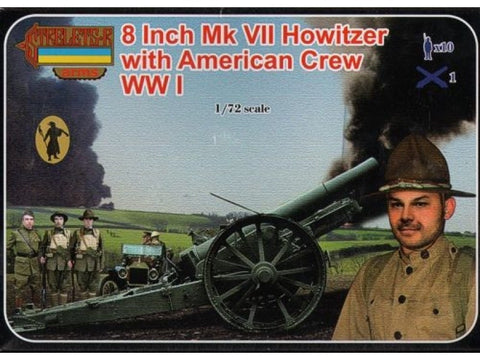Strelets - 8 Inch Mk VII Howitzer with American crew WWI - 1:72