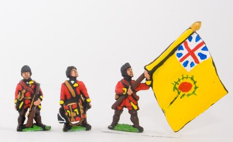 Essex - Command: Officer, Standard Bearer & Drummer in Campaign Dress - 15mm