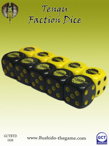 Bushido - Tengu faction dice (10) - GCTBTD008