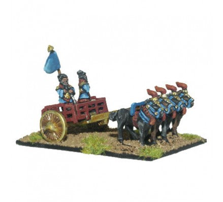 Chariot Miniatures - Command with Chariot - 10mm