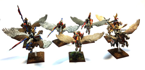 Warhammer Fantasy - Bretonnian Pegasus knights - 28mm - Good Painted