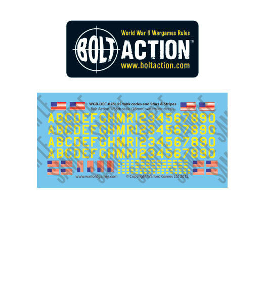 Warlord games - Bolt Action - Vehicle Decals (x4 Variants)