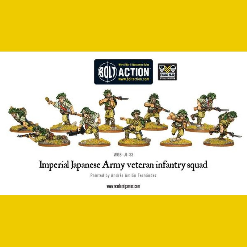 Bolt Action - Japanese veteran infantri squad - 402216003