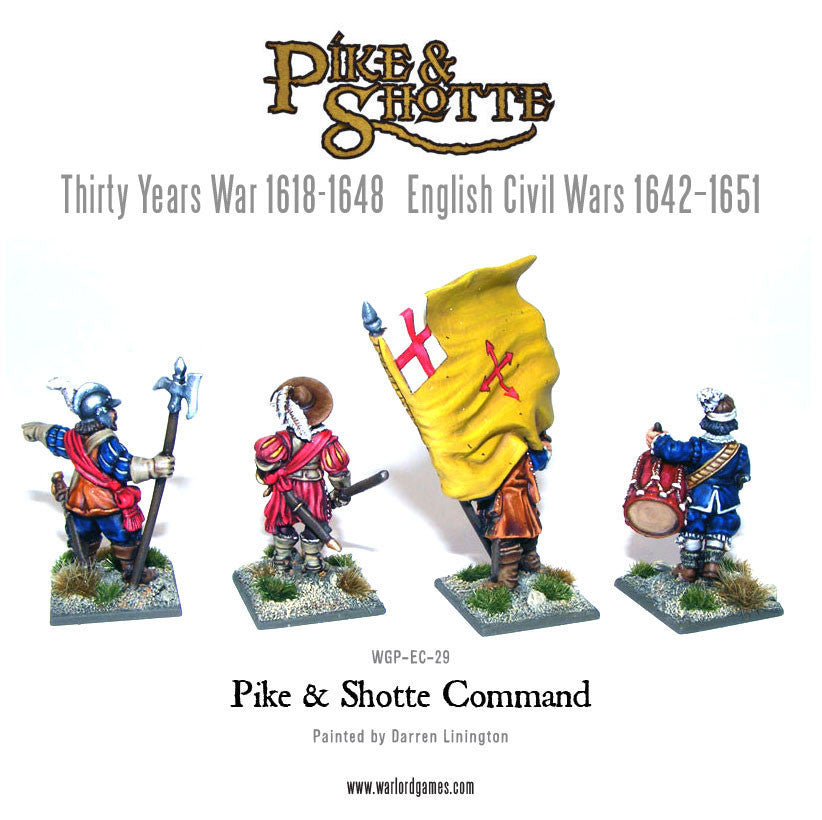 Warlord Games - Pike & Shotte - WGP-COM-01 -  Command - 28mm