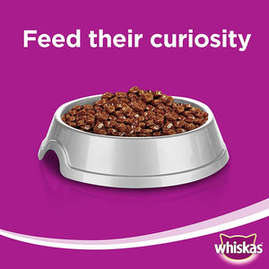Whiskas Tender Bites Beef in Gravy Wet Cat Food Pouches (24 x 85 gm)