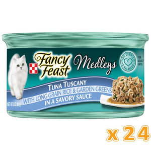 PURINA FANCY FEAST Medleys Tuna Tuscany Wet Cat Food (24 x 85 gm) - Sanadeeg