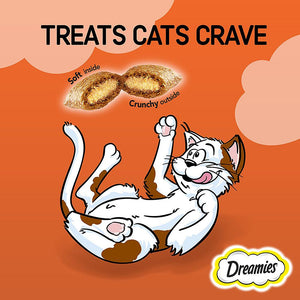 Dreamies Cat Treats Chicken Pouches (6  x 60 gm)