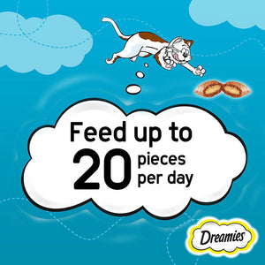 Dreamies Cat Treats Salmon Pouches (6  x 60 gm)