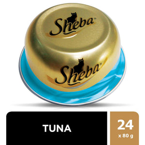 SHEBA® Dome Prime Cuts of Tuna Wet Cat Food Can (24 x 80 gm)