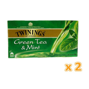 Twinings Green Tea and Mint (2 x 25 Bags) - Sanadeeg