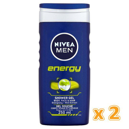 Nivea Energy Shower Gel (2 x 250ml) - Sanadeeg