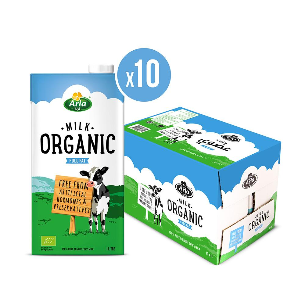 Arla Organic Full Fat Milk (10 x 1L)