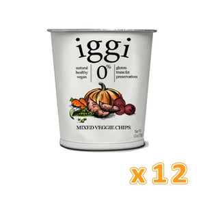iggi Mixed Veggie Chips ( 12 x 28 gm) - Sanadeeg