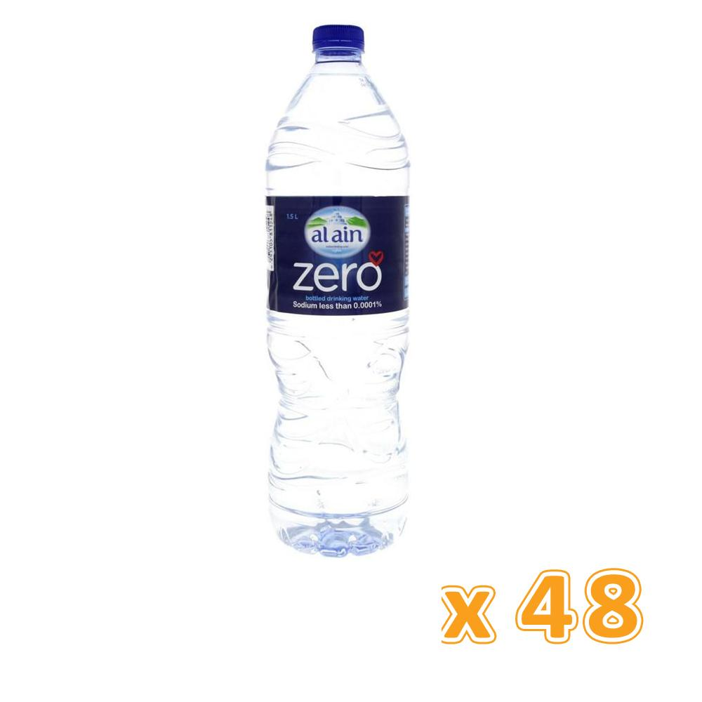 Al Ain Bottled Drinking Water Zero Sodium (48 x 1.5 L) - Sanadeeg