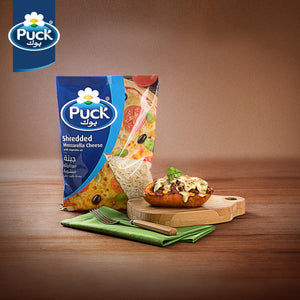 Puck Shredded Mozzarella Cheese (1 KG) - Sanadeeg