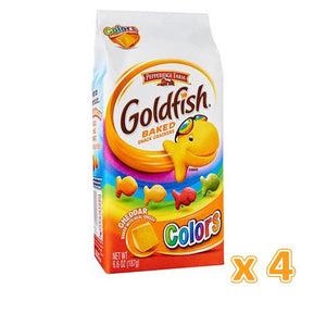 Peppridge Farm GoldFish Baked Snack Crackers - Colors (4 X 187 gm) - Sanadeeg