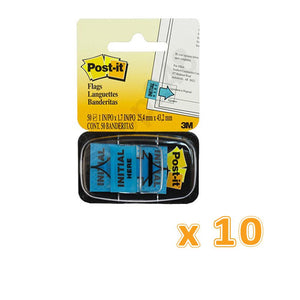 3M Post-It Initial Here Tape 1 x 1.75 Flags (1 X 10 Pcs) - Sanadeeg