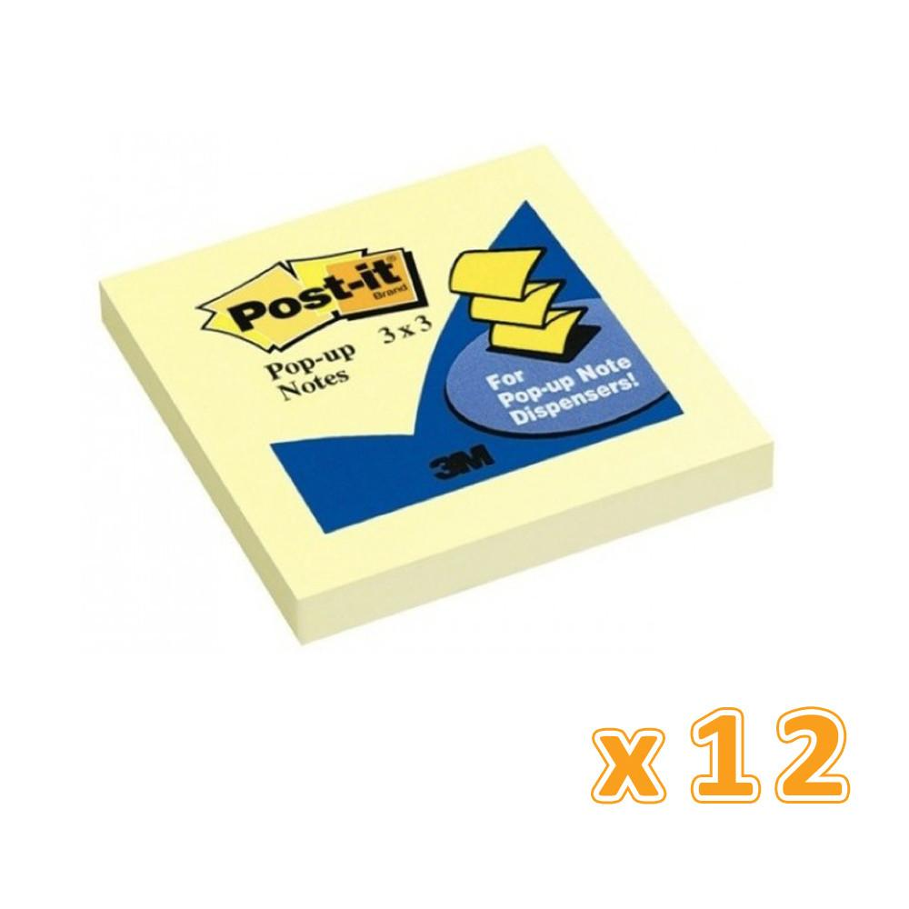 3M Post-It Pop-Up Dispenser Refill  3 x 3 (1 X 12 Pcs) - Sanadeeg