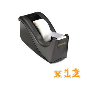 3M Scotch Desktop Tape Dispenser Black (1 X 12 Pcs) - Sanadeeg