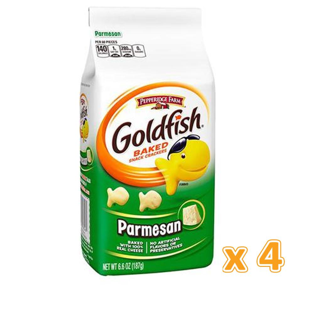 Peppridge Farm GoldFish Baked Snack Crackers - Parmesan (4 X 187 gm) - Sanadeeg
