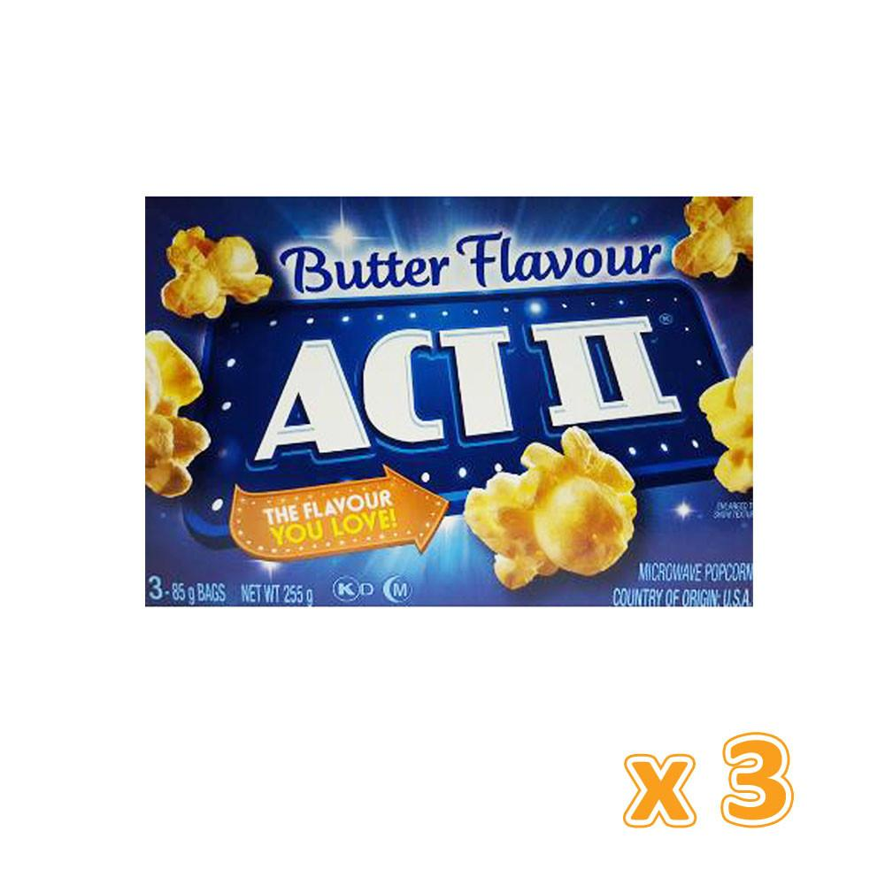 Act II Butter Flavour Microwave Pop Corn  (3 x 255 gm) - Sanadeeg