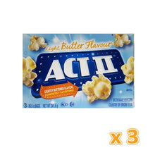 Act II Light Butter Flavour Microwave Pop Corn  (3 x 241.8 gm) - Sanadeeg