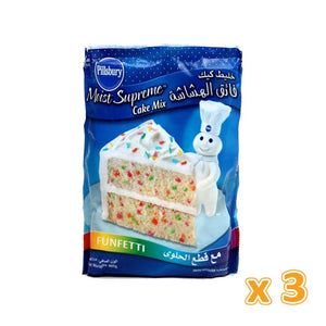 Pillsbury Moist Supreme Cake Mix FunFitti (3 x 485 gm) - Sanadeeg