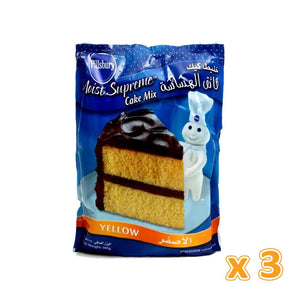 Pillsbury Moist Supreme Cake Mix Yellow (3 x 485 gm) - Sanadeeg