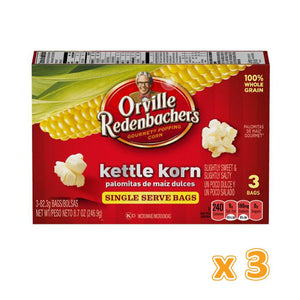 Orville Pop Up Bowl Kettle Korn  (3 x 246.9 gm) - Sanadeeg