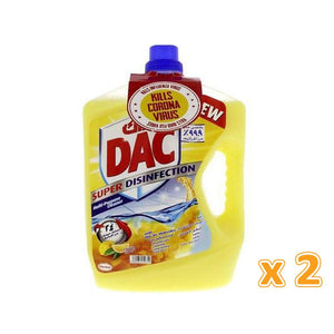 DAC Super Disinfection Lemon Multi-Purpose Cleaner (3 L) - Sanadeeg