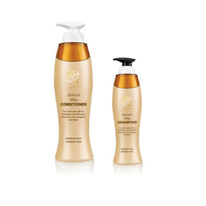 Cynos Shine'N Silky Conditioner (738 ML) + Cynos Shine'N Silky Shampoo (300 ML) Free - Sanadeeg