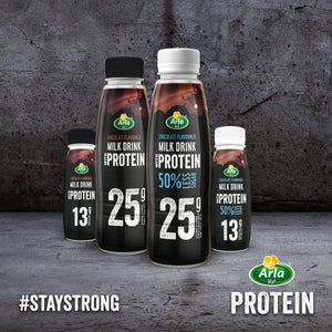 Arla Protein 50% Less Sugar Chocolate Flavoured Protein Milk Drink (8 x 479ml)